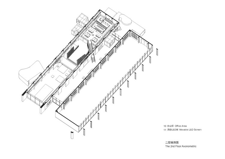 01-2-二层轴测图 The 2nd Floor Axonometric