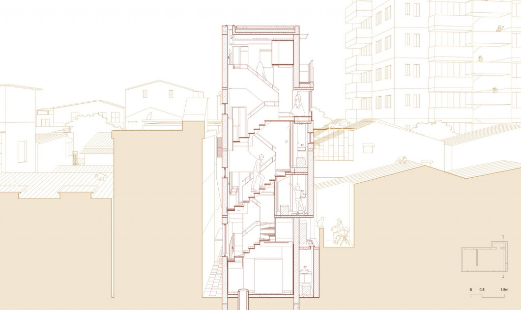 03-1-Staircase Sectional Perspective