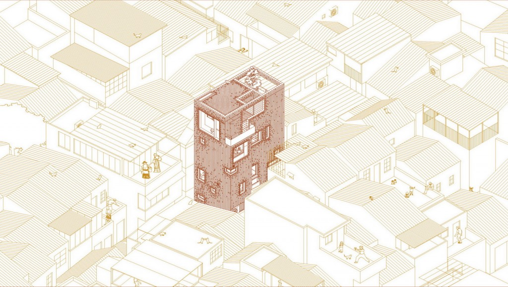 01-East-north Axonometric