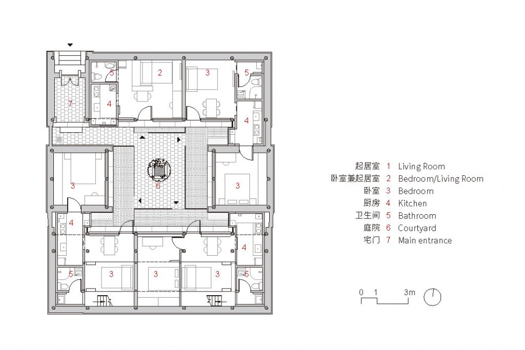 No.4 Heng Hutong-03 the 1st floor plan
