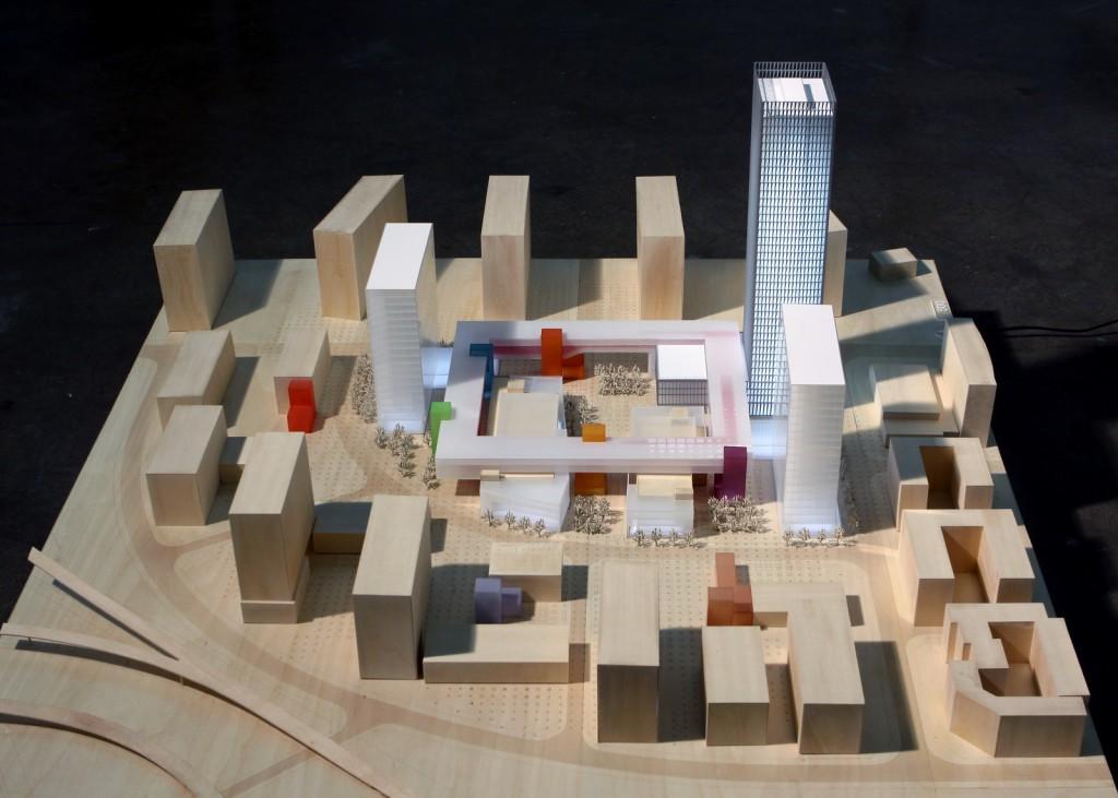 龙城工业园概念规划及龙岗创投大厦设计 实体模型 ©URBANUS