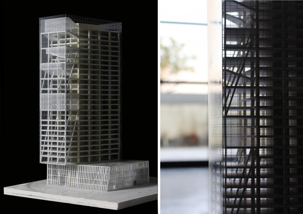 大成基金总部大厦 实体模型 ©URBANUS